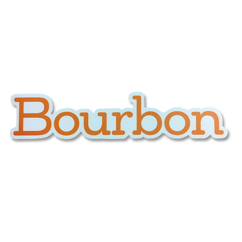 Bourbon Wordmark Sticker
