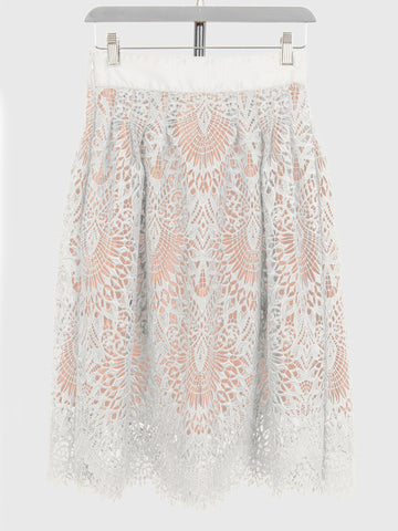 Cotton Canary White Lace Victoria Skirt