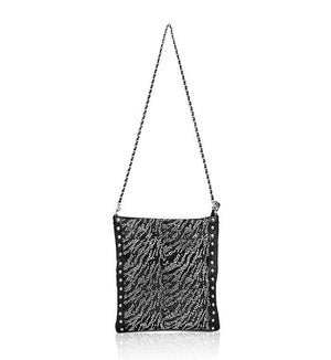 4-Way Fold-Over Rockstar Bag (Black Zebra)