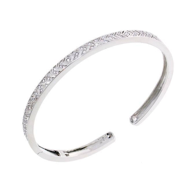 Amazing Arrow Cuff CZ Crystal Bangle Bracelet