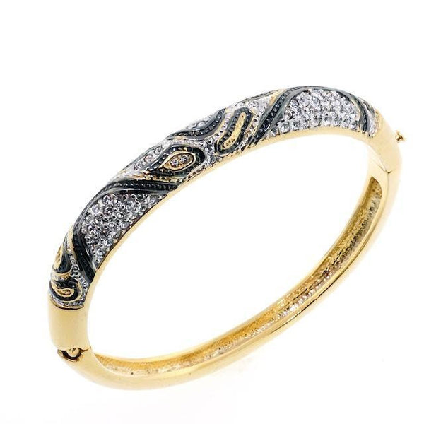Animal Print Swarovski Crystal Bangle Bracelet