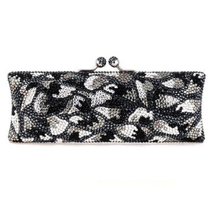 Black and Gray Swarovski Crystal Clutch