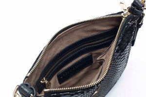 Black Brown Leather Crossbody Messenger Designer Handbag