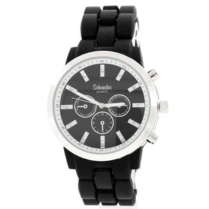 Black Silver Fashion Watch