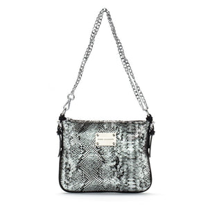 silver black leather messenger crossbody bag designer bags, celebrity style fashion hot bags