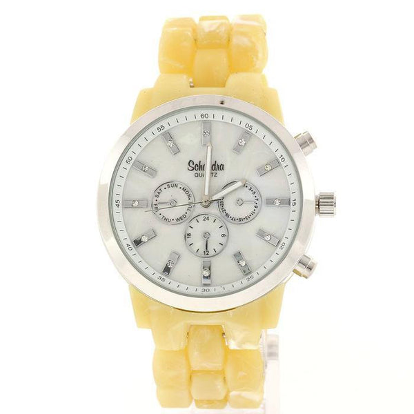 bone silver fashion watch
