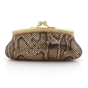 Bronze Gold Swarovski Crystal Clutch