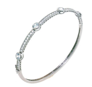 Classic Beauty CZ Crystal Bangle Bracelet