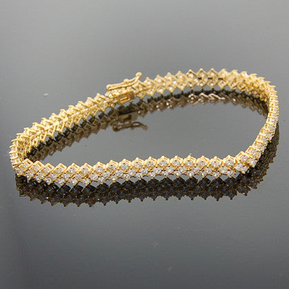 Delicate Soft Bracelet CZ with Gold