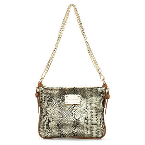 gold black python print crossbody messenger leather bag, handbag celebrity style