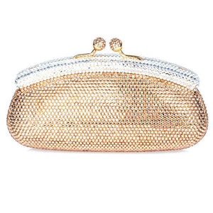Gold Swarovski Crystal Clutch