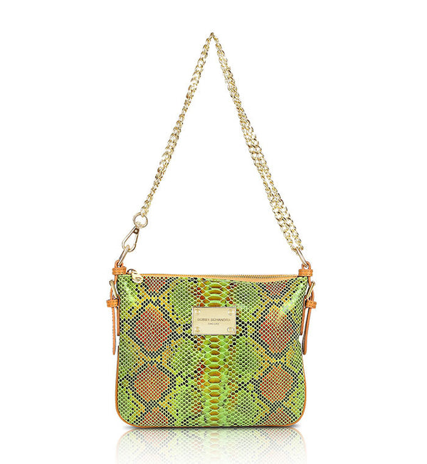 Green Italian Leather Crossbody Bag Bobby Schandra