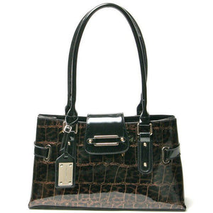 Leopard Patent Leather Bag Purse
