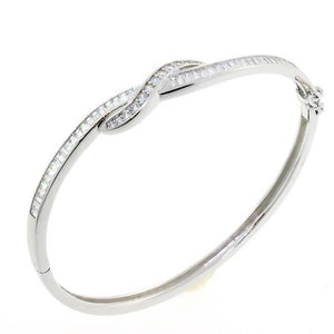 Love Knot CZ Crystal Bangle Bracelet