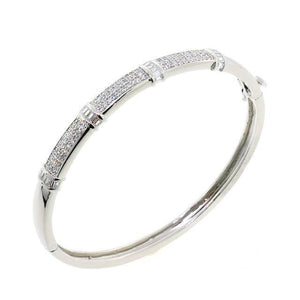 Lovely Lady CZ Crystal Bangle Bracelet