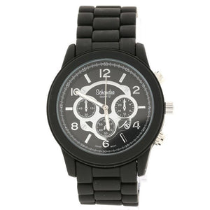 matt black fashion watch
