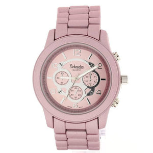 matt pink fashion watch