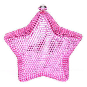 Pink Star Swarovski Crystal Clutch