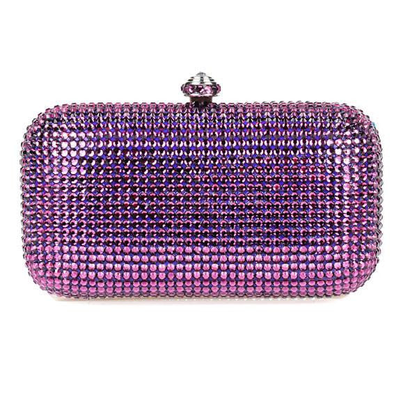 Purple Swarovski Crystal Clutch