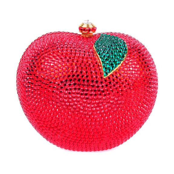 Red Apple Swarovski Crystal Clutch