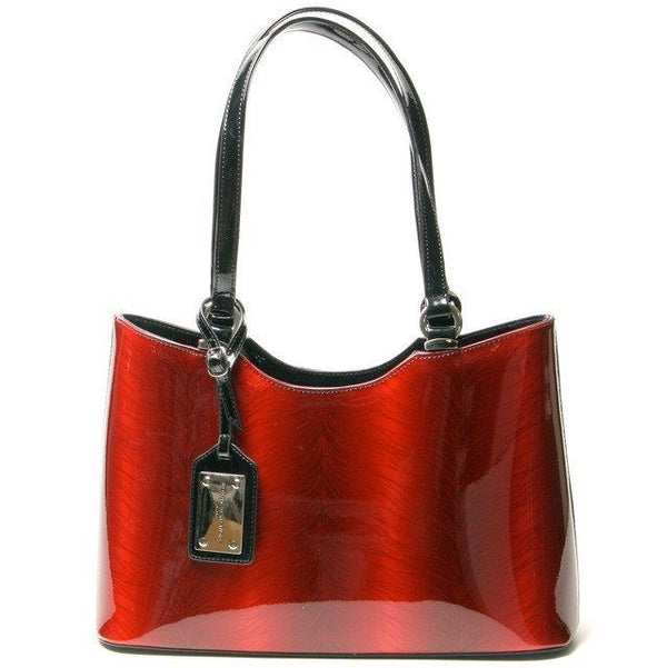 Emery Tote Red Patent Leather Tote Bag