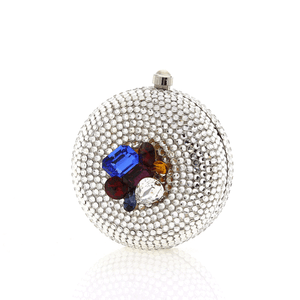 Round Multi-Color Cluster Swarovski Crystal Clutch