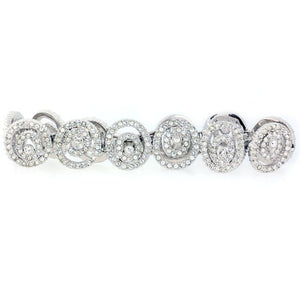 Silver and CZ Large Spiral Bracelet