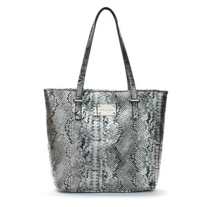 silver black leather tote bag designer handbags celebrity fashion luxury bags