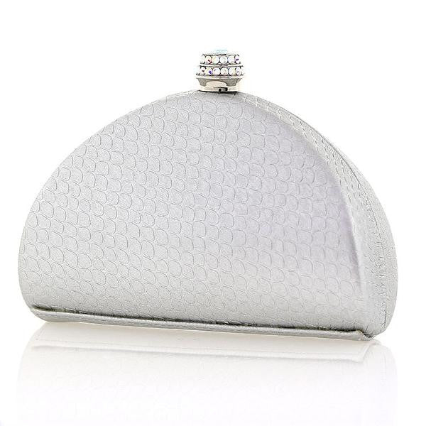 Silver Swarovski Crystal Evening Clutch