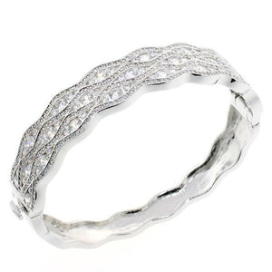Stunning CZ Crystal Bangle Bracelet