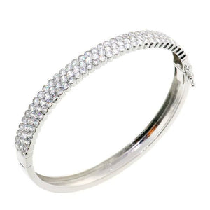 Stunning Round Cut CZ Crystal Bangle Bracelet
