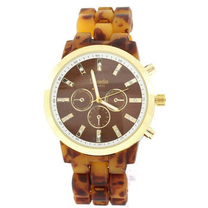 tortoise brown fashion watch