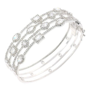 Treasure Chest CZ Crystal Bangle Bracelet