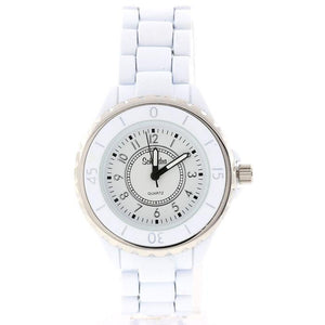 white fashion watch classic