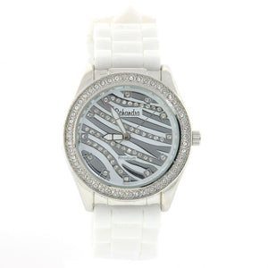 white zebra fashion watch