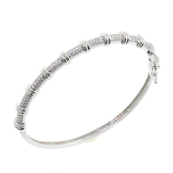 Wrapped in Bling CZ Crystal Bangle Bracelet