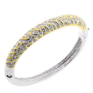 Zebra Swarovski Crystal Bangle Bracelet