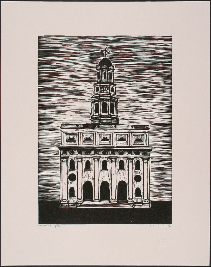 Nauvoo Temple - relief print