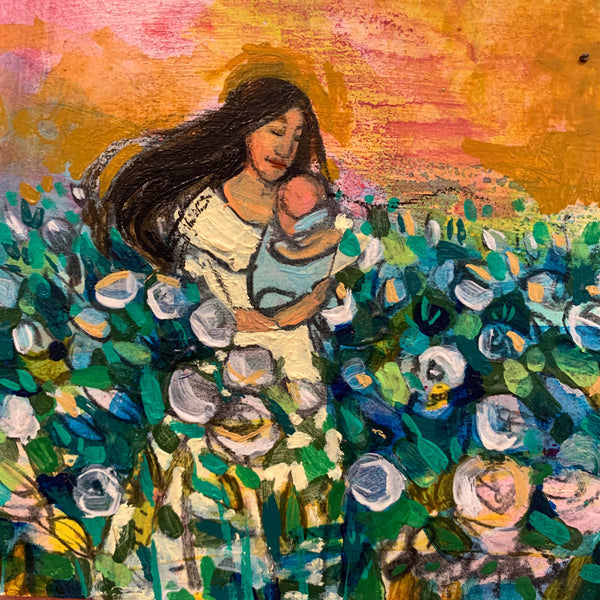 Sunset mother - original