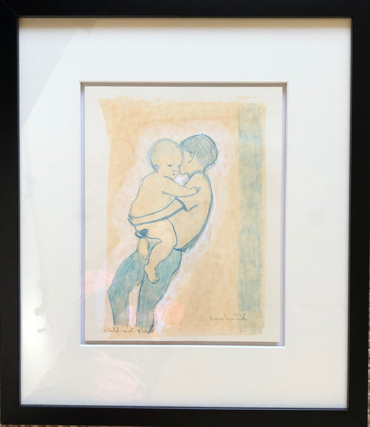 Child with child - drawing