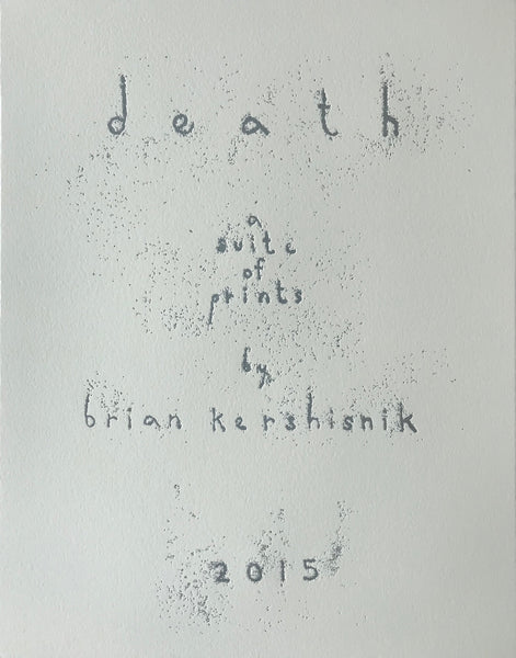 Death -A suite of prints