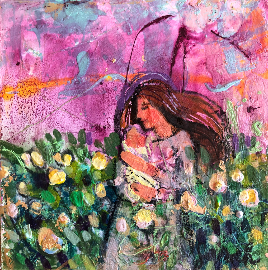 Mother and Child (lavender) - original