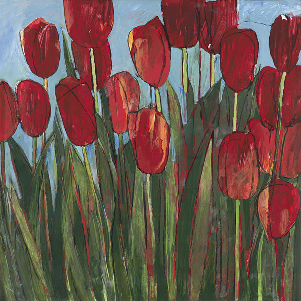 Red Tulips - giclee