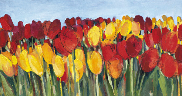 Red and Yellow Tulips - giclee