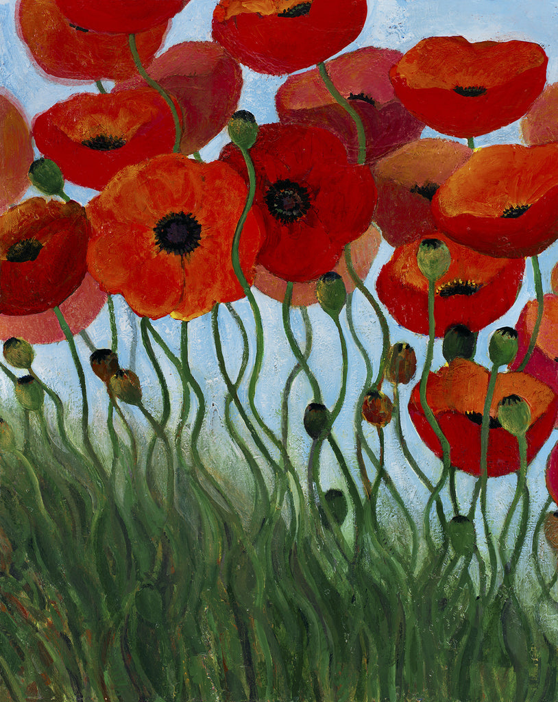 Red Poppies - giclee