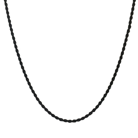 Matt Black Rope Chain Necklace