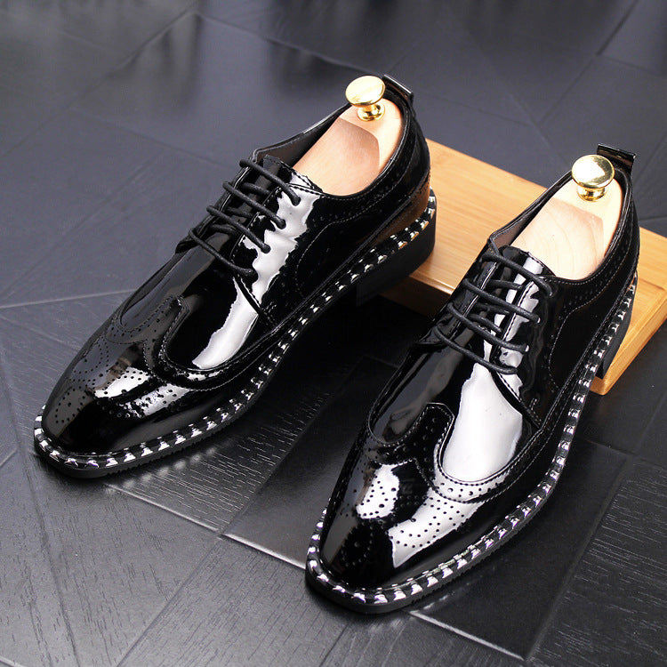 Golden Bright Face Hollow Air-permeable Shoes Youth Fashion Personality Hair