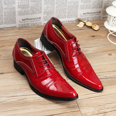 Super-pointed Leather Shoes Fashion Korean Low-top Shoes Painted Leather Hair Style