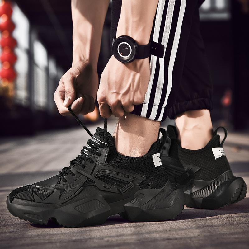 2020 men's trend shoes spring and summer thick bottom spree increasemen men's daddy shoes Korean version of the trend sports leisure hundred slain men's shoes