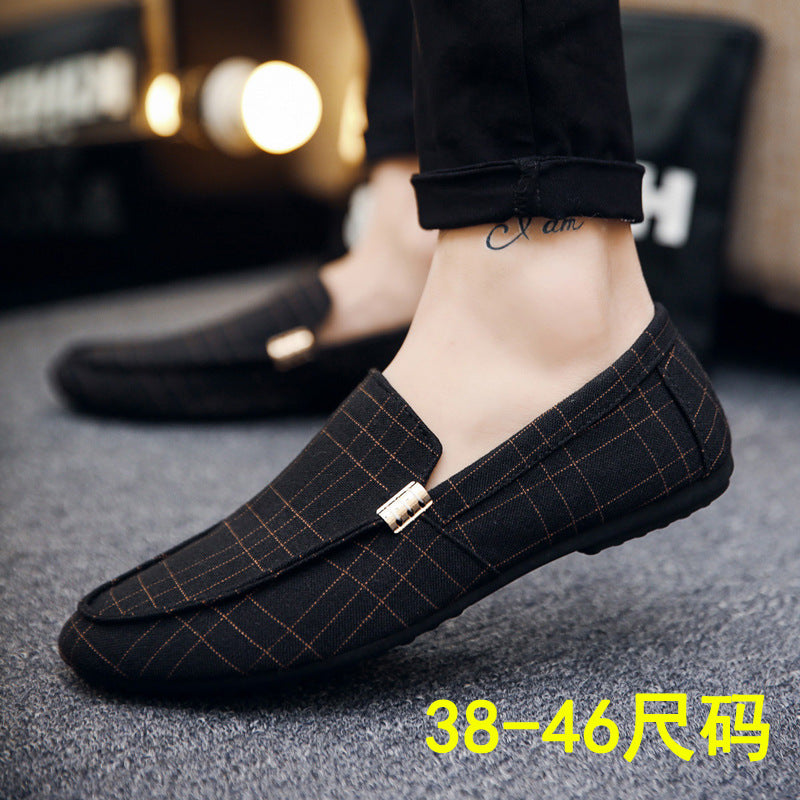 new spring casual shoes tide shoes men's peas shoes men's lazy shoes breathable a pedal men's shoes